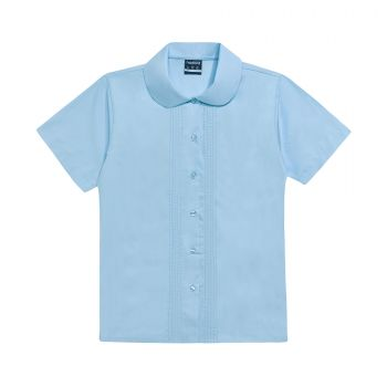 Girls Short Sleeve Pin Tuck School Blouse