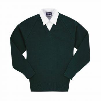 Basic V-Neck Wool Pullover