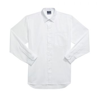 Boys Long Sleeve Brushed Polyester/Cotton School Shirt