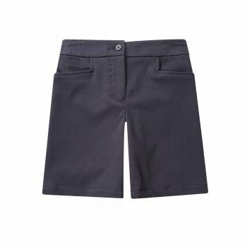 Girls Tailored Shorts Elastic Back
