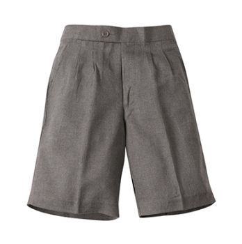Boys Melange Elastic Back School Shorts